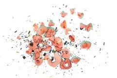 цветастые shavings стоковое изображение rf
