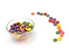 цветастые smarties сладостные Стоковое Изображение
