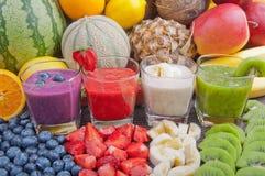 цветастые smoothies Стоковая Фотография RF