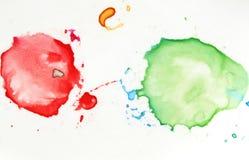 цветастые splatters Стоковые Изображения RF
