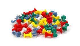 цветастые thumbtacks группы Стоковая Фотография