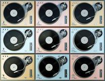цветастые turntables Стоковая Фотография
