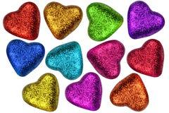 цветастые valentines сердец дня Стоковая Фотография RF