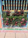 Цветастый балкон стоковое изображение rf