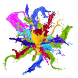 Цветастый брызгать краски бесплатная иллюстрация