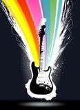 цветастый вектор гитары взрыва Стоковая Фотография RF
