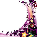цветастый вектор звезд Стоковые Изображения