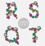цветастый вектор иллюстрации купели цветка Стоковые Изображения RF