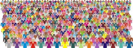 цветастый вектор людей толпы Стоковое Фото