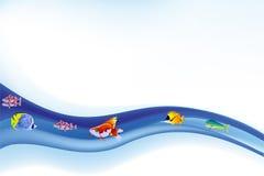 Цветастый вектор морской жизни Стоковое фото RF