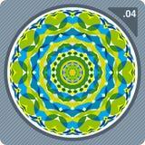 цветастый вектор kaleidoscope Стоковые Фотографии RF