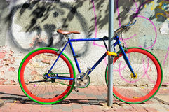 Цветастый велосипед Стоковая Фотография RF