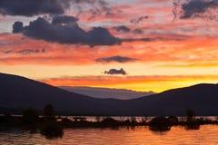 цветастый восход солнца стоковое изображение