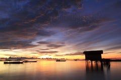 Цветастый восход солнца стоковые изображения rf