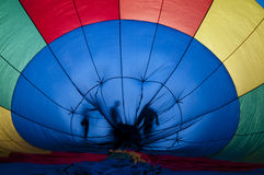 Цветастый горячий воздушный шар Стоковое фото RF