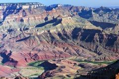 Цветастый грандиозный каньон Стоковое Изображение