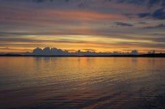 цветастый дистантный заход солнца Стоковые Фото