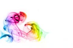 цветастый дым радуги стоковые изображения rf