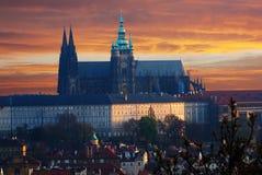 Цветастый замок Праги готский Стоковые Фотографии RF