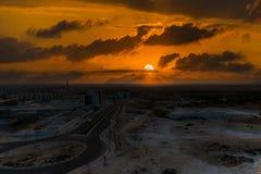 цветастый заход солнца неба Стоковое Изображение RF