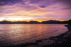 цветастый заход солнца неба стоковая фотография