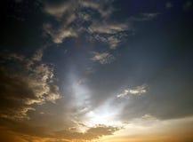 цветастый заход солнца Стоковая Фотография