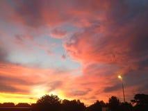 цветастый заход солнца Стоковое Фото