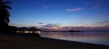 цветастый заход солнца Стоковые Фотографии RF