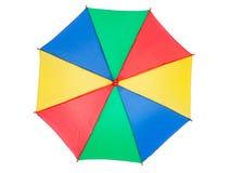 Цветастый зонтик, взгляд сверху Стоковые Фото
