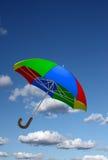 цветастый зонтик неба Стоковые Изображения