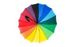 Цветастый изолированный зонтик Стоковая Фотография RF