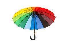 Цветастый изолированный зонтик Стоковые Изображения RF