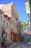 Дома Квебека (город), Канада стоковая фотография