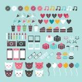 цветастый комплект иконы Стоковые Фотографии RF