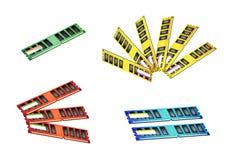 Цветастый комплект иллюстрации иконы RAM компьютера Стоковое фото RF