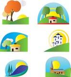 цветастый комплект логоса Иллюстрация штока