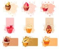 цветастый комплект пирожня Стоковое фото RF