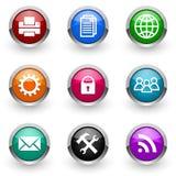 цветастый комплект иконы Стоковая Фотография RF