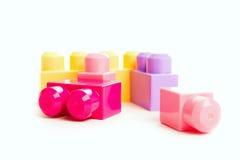 Цветастый конструктор игрушки блока стоковые изображения rf
