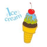 Цветастый конус мороженого Стоковые Фотографии RF