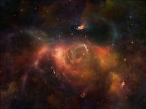 цветастый космос иллюстрация вектора