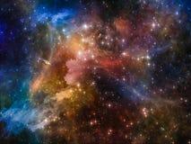 цветастый космос иллюстрация штока