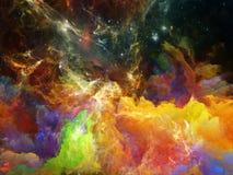 цветастый космос nebula иллюстрация штока