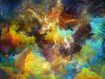 цветастый космос nebula бесплатная иллюстрация