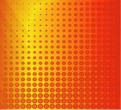 цветастый красный ретро вектор Стоковое Фото