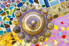 Цветастый кристаллический висок Khao Kho Phasornkaew искусства предпосылки, Phe Стоковое Изображение RF