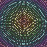 Цветастый круг искусство Абстрактная предпосылка, цвета радуги Стоковое Изображение RF