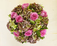 Цветастый крупный план букета роз Стоковая Фотография RF