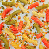 Цветастый крупный план макаронных изделий Стоковое Изображение RF