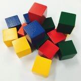 цветастый кубик Стоковые Изображения RF